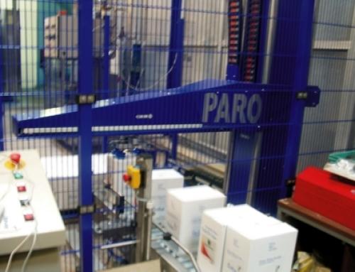 Palettierroboter für Weinflaschen in Kartons