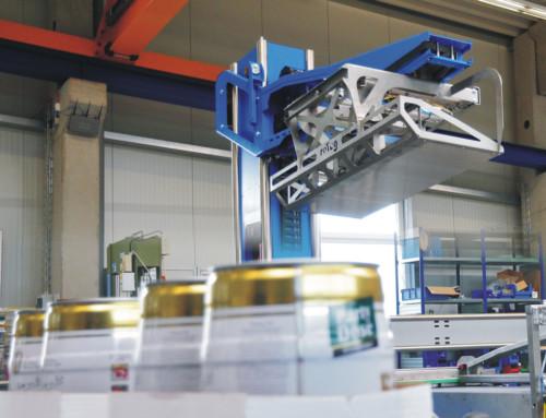 Palettierroboter in der Getränkeindustrie