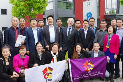 Eine Gruppe aus China war bereits im Mai bei roTeg