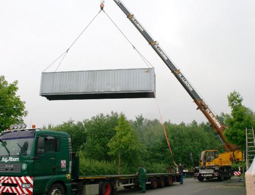 Seecontainer erweitert Lagerfläche