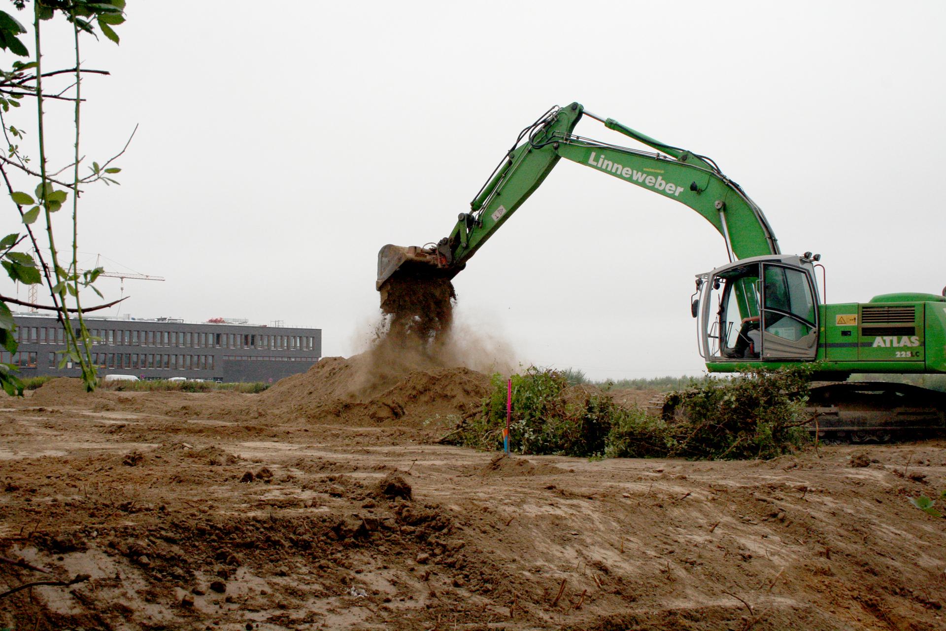 Die Arbeiten für die neue roTeg Fertigungshalle haben begonnen