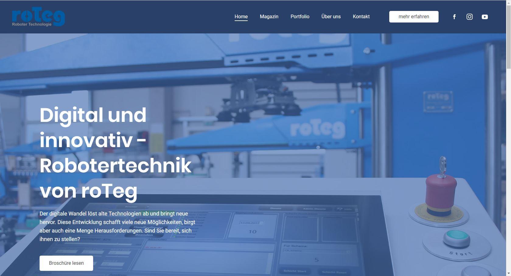 Auf der neuen Internetseite stellt die roTeg AG neue Techniken vor