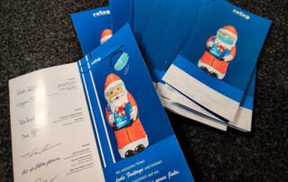 Die Weihnachtskarten werden jetzt auf den Weg gebracht