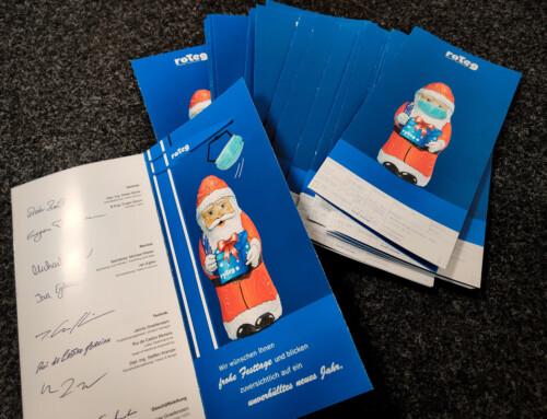 Weihnachtskarten auf den Weg gebracht